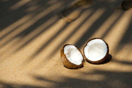 пляж кокосового піску, Приморський, тінь