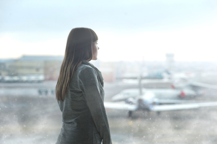 woman, person, young, airplanes, airport