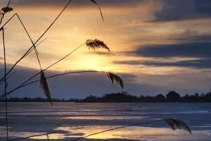 Ήλιος, νερό, σύννεφα, αυγή, λίμνη, ορίζοντας, φύση, ήσυχο, σύννεφα