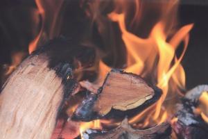 flame, heat, wood, burning, fire