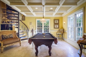 interior, furniture, table, billiard table, chair, luxury, modern room
