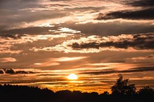 clouds, sky, Sun, dusk, evening, clouds