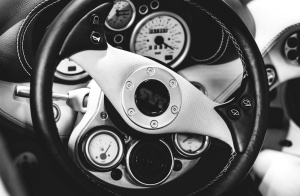 automobila, crni, bijeli, automobil