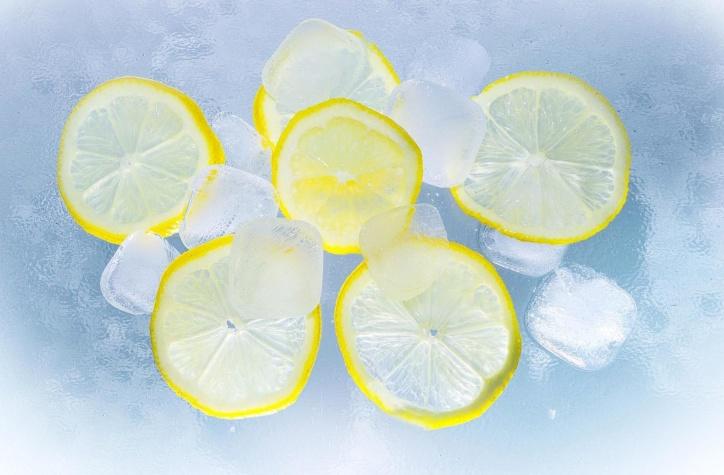 llemons, meyve suyu, buz, su, yaz, limon, meyve, ferahlık, Ice cube