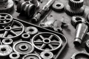 engrenagens, o mecanismo, o técnico, de metal metal parafusos, engrenagens, utilitário