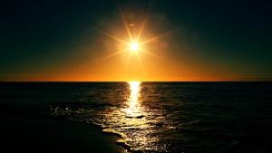 zalazak sunca, Sjeverno more, kopno, odmor, izlazak sunca, krajolik, prirodu, mrak, noć