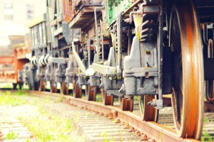 train, railway station, rails, old, metal, vehicle