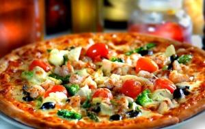 vegetables, Italian food, diet, pizza, restaurant, dinner, meal, tomatoes, mushrooms, fast food