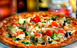 povrće, talijanska hrana, dijeta, pizza, restoran, večera, obrok, rajčice, gljive, brze hrane
