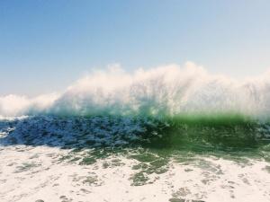 acqua, onda, oceano, onde, spruzzi, spiaggia