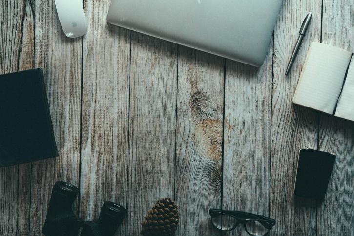 bois, ordinateur portable, cru, vieux verres, classique, machine à écrire, des œuvres