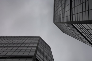 glass, windows, gray, sky, skyscraper, building, architecture, city