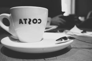 coffee cup, coffee, drink, hot, mug, porcelain, saucer