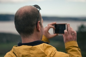 Handy, Handy, Smartphone, Foto, Mann