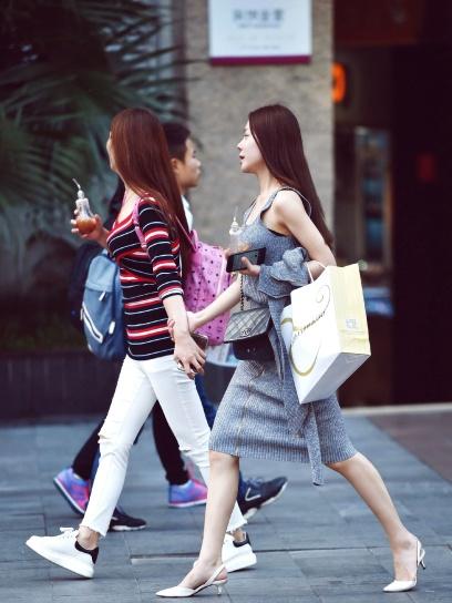Asia, girls, beauty, casual, fashion, China, city, city
