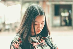 woman, sad, face, girl, street