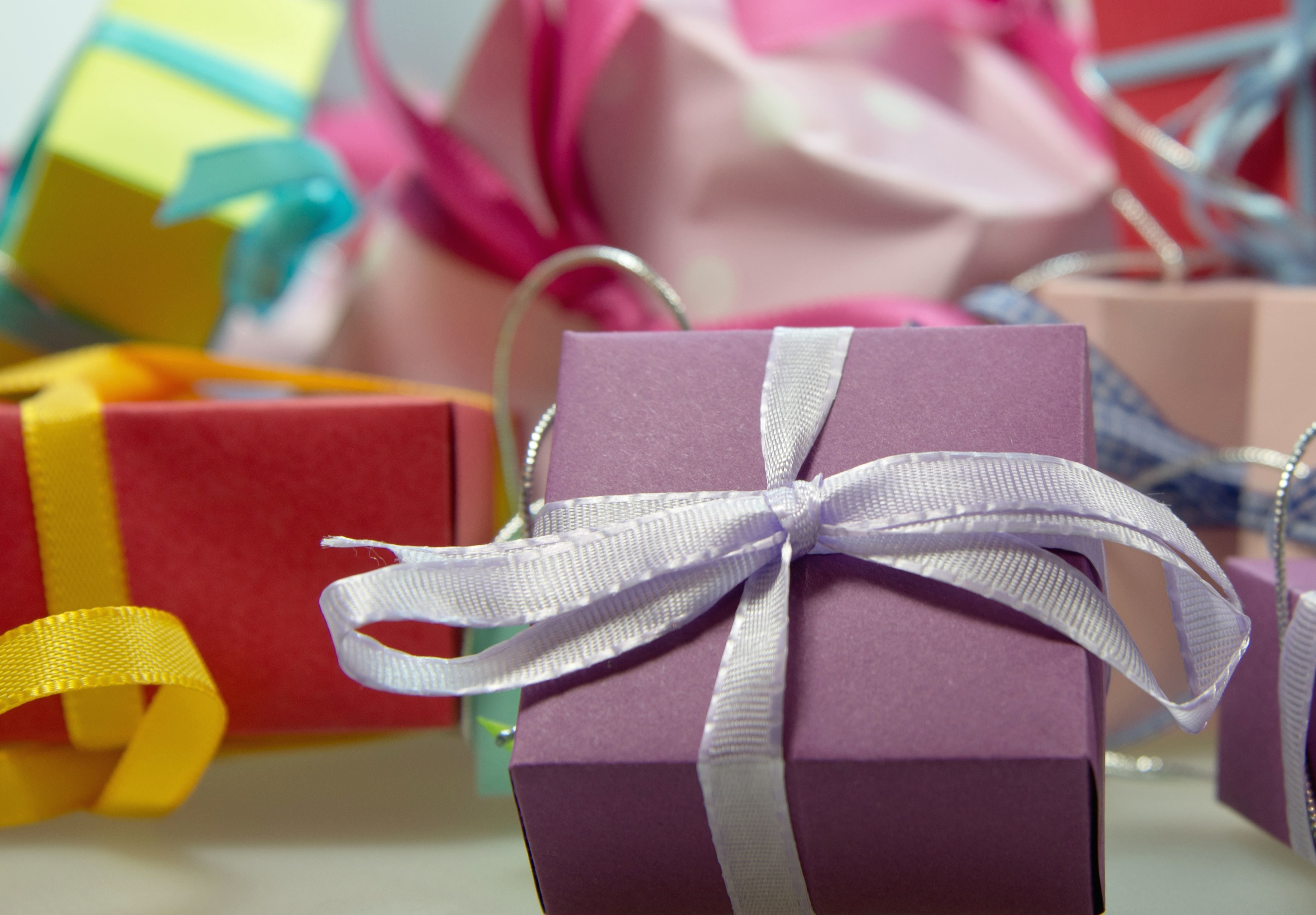 Gifts Presents Ribbons Surprise Box Decoration