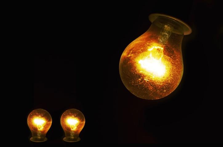 illuminated, incandescent, lamps, light bulb