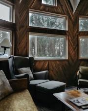 stol, komfort, moderne, læder, lænestol, møbler, interiør, værelse