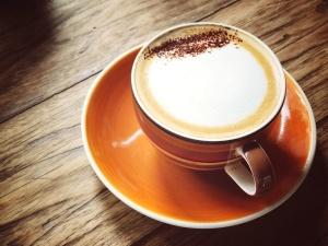porselen, piring, Meja, kayu, kopi, cangkir kopi, krim, minuman