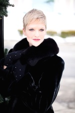 fashion, woman, fur, coat, girl, glamour, short hair