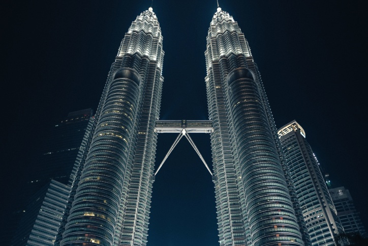 torres, edificios, Asia, torre, urbano, céntrico