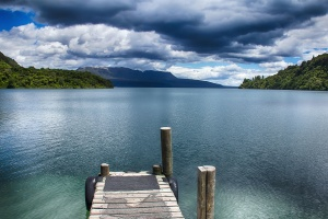 water, wood, beach, clouds, wooden planks, island, lake