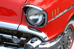 car, headlight, chrome, classic, old