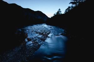 돌, 나무, 물, 흐름, 스트림 광 야