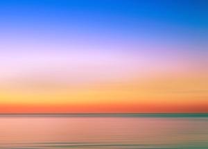 mar, céu, verão, nascer do sol, pôr do sol, água