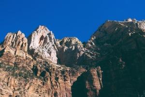 woestijn, geologie, berg, rock, struiken