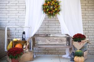 fiori, stanza, parete, panca di legno, decorazione, mobili, interni