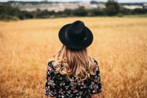 pascolo, rurale, le colture, fattoria, campo, ragazza, donna