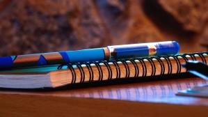 paper, book, pencil, desk, notes