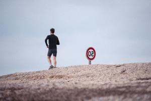 άνθρωπος, δρόμος, άσκηση, τζόγκινγκ, πρόσωπο, σημάδι