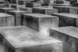 concrete, blocks, empty, square, grave