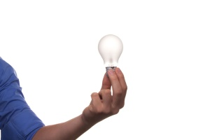 light bulb, business, energy, genius, hand