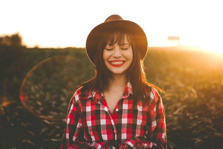 portrait, smile, Sun, sunlight, woman, girl, happiness