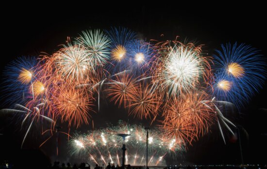 fireworks, party, night, celebration, colorful