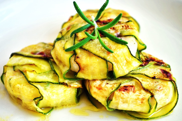 vegetable, slices, zucchini, diet, dish, food