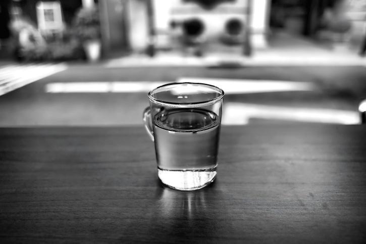 bebida, copo, mesa, água fresca