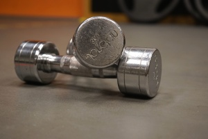 dumbbells, iron, metallic, silver, steel, gym