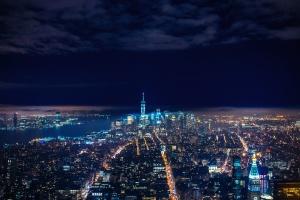 noc, města, městské, cestování, města