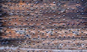 Holz, Holzbohlen, Metall, Wände, Textur, Muster