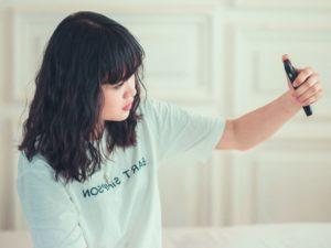 adolescent, femme, téléphone mobile, loisirs, style de vie