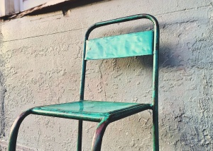 chair, abandoned, broken, rusty, steel, dilapidated, furniture