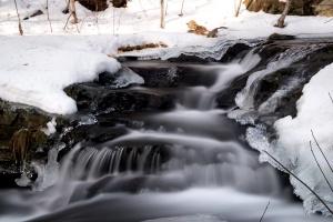 fluxo, inverno, neve, natureza, paisagem, inverno, gelo, água, Rio