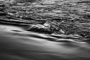 Monochrom, Strand, Meer, Seestück, Wasser, Wellen