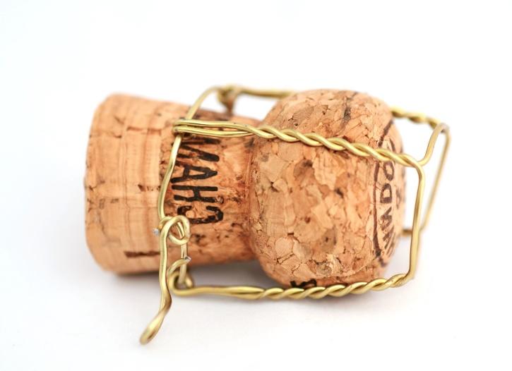 cork, metal, wire, texture, wooden