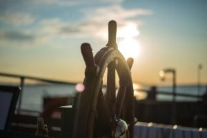 Boot, Lenkung, Ruder, Sonne, Sonnenuntergang, Ruder